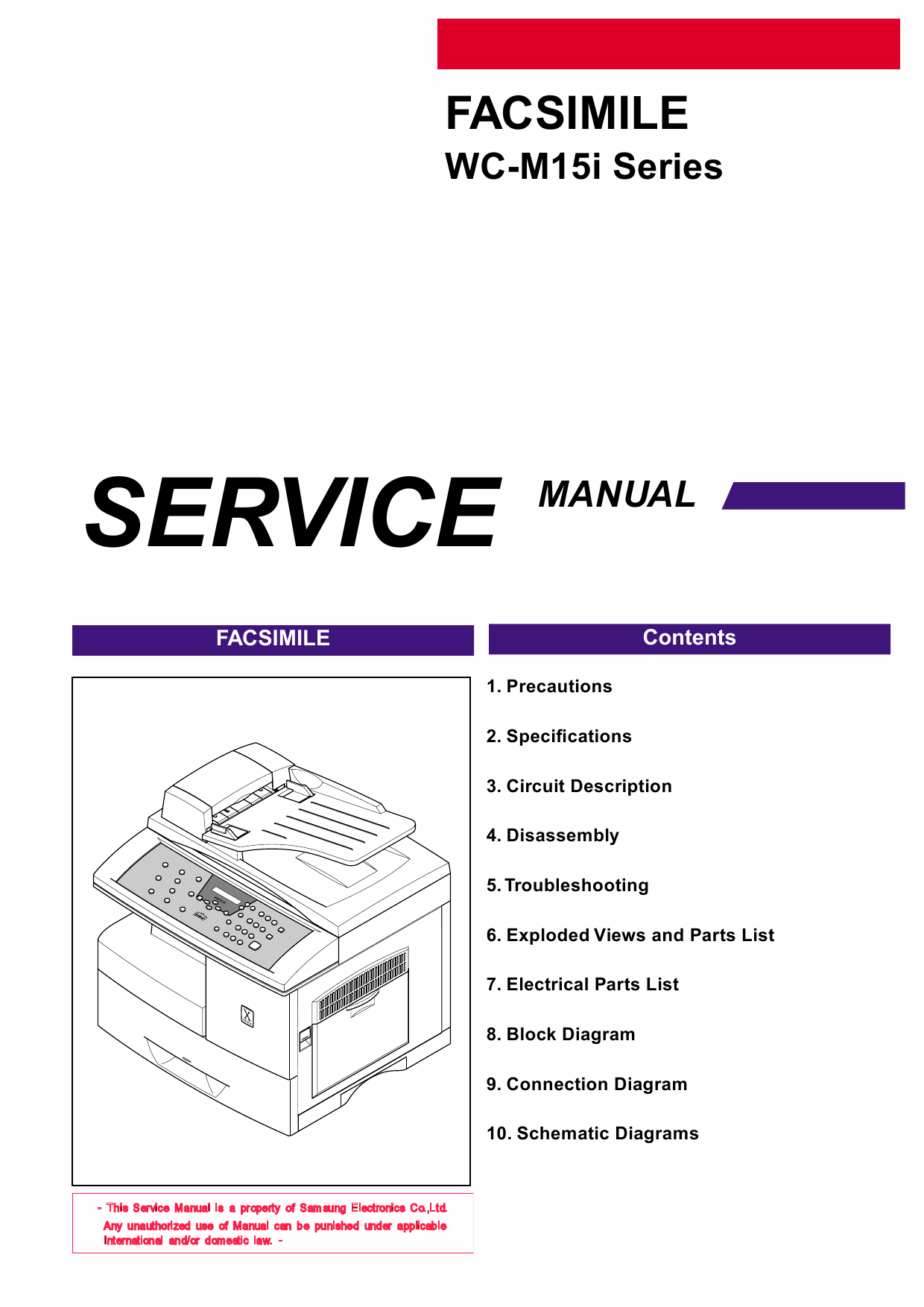 Xerox WorkCentre M15i FFACSIMILE Parts List and Service Manual-1